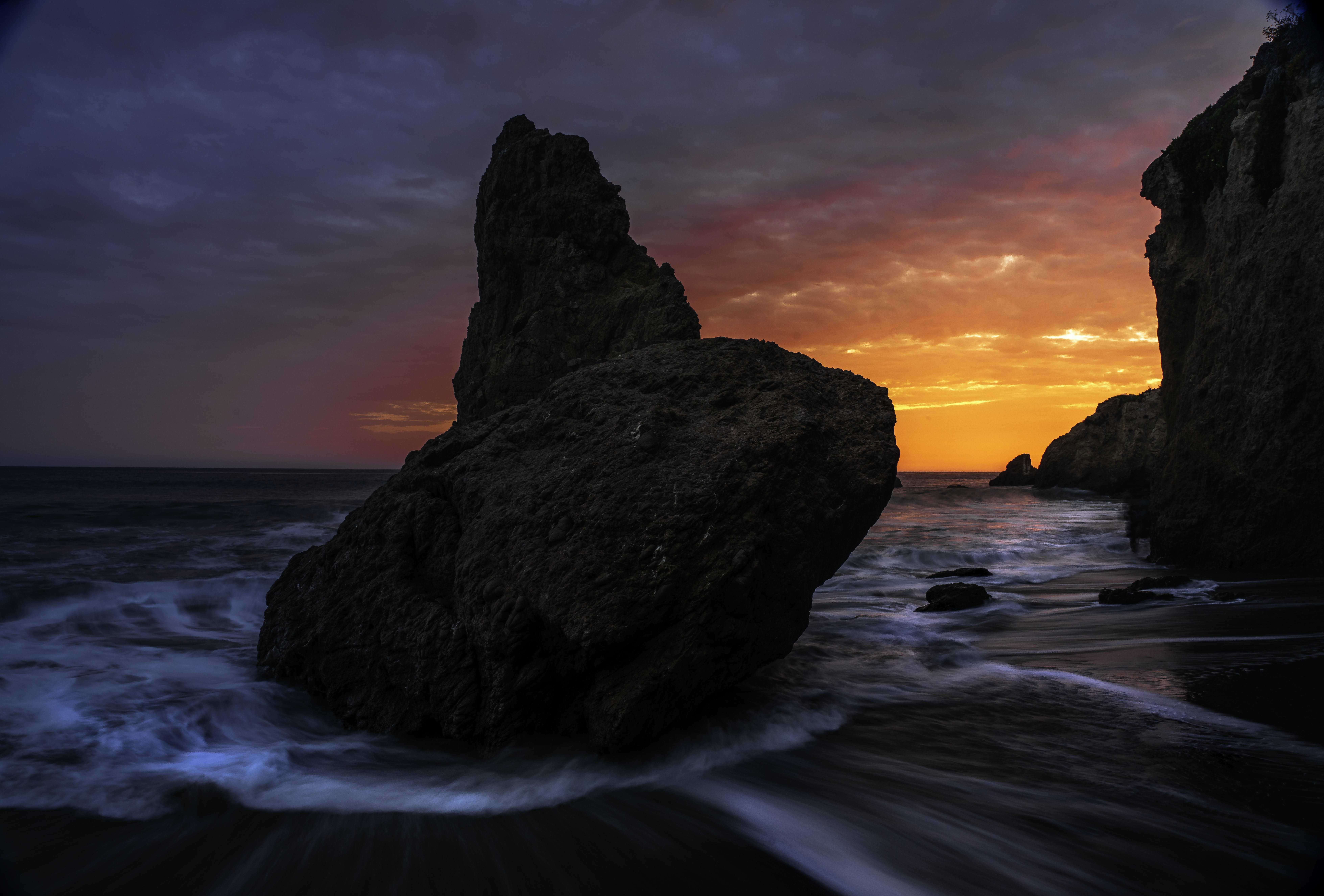 Time Lapse Photography of Brown Rock Monolith during Golden Hour