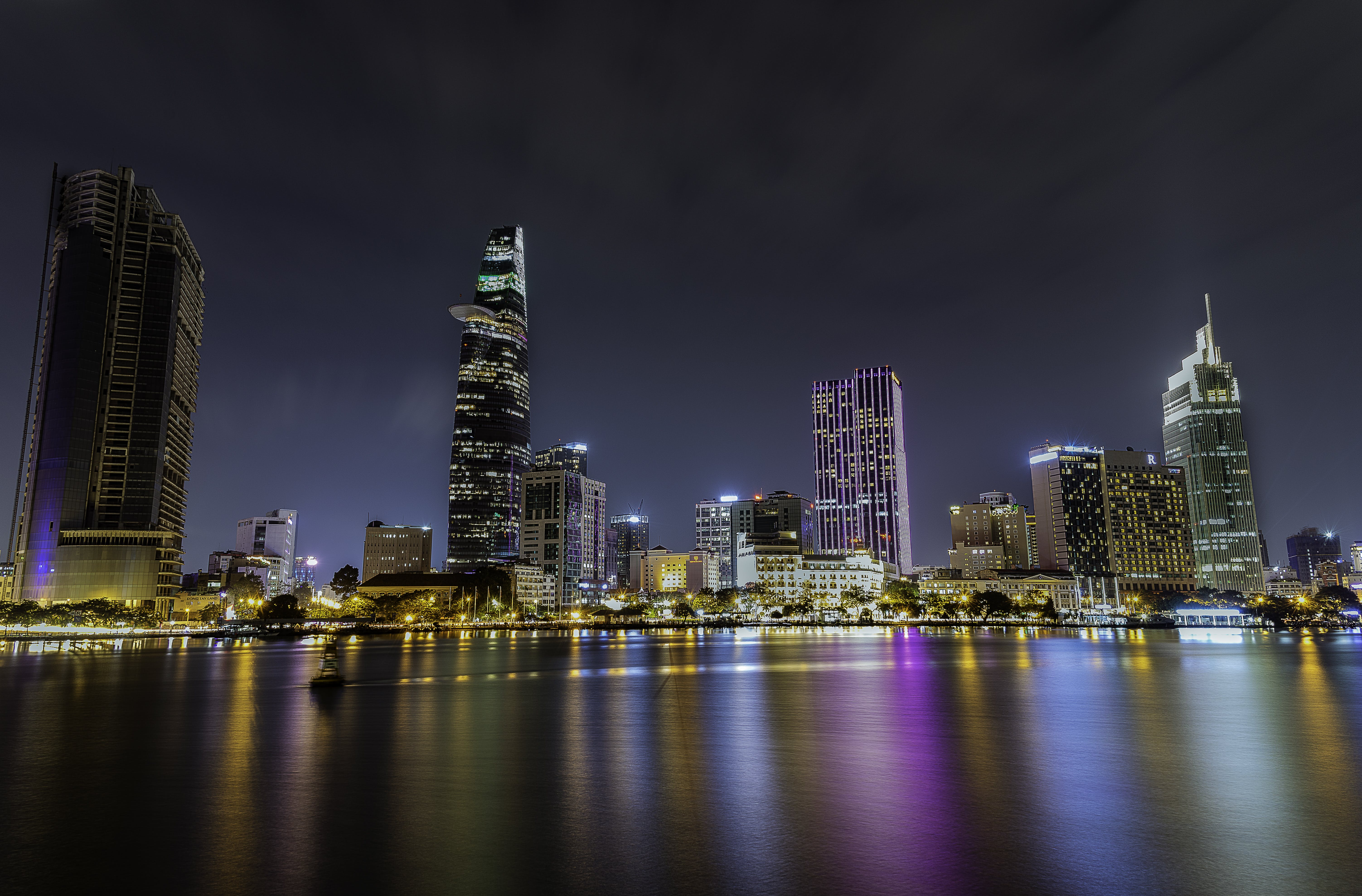 City during Nighttime Photography
