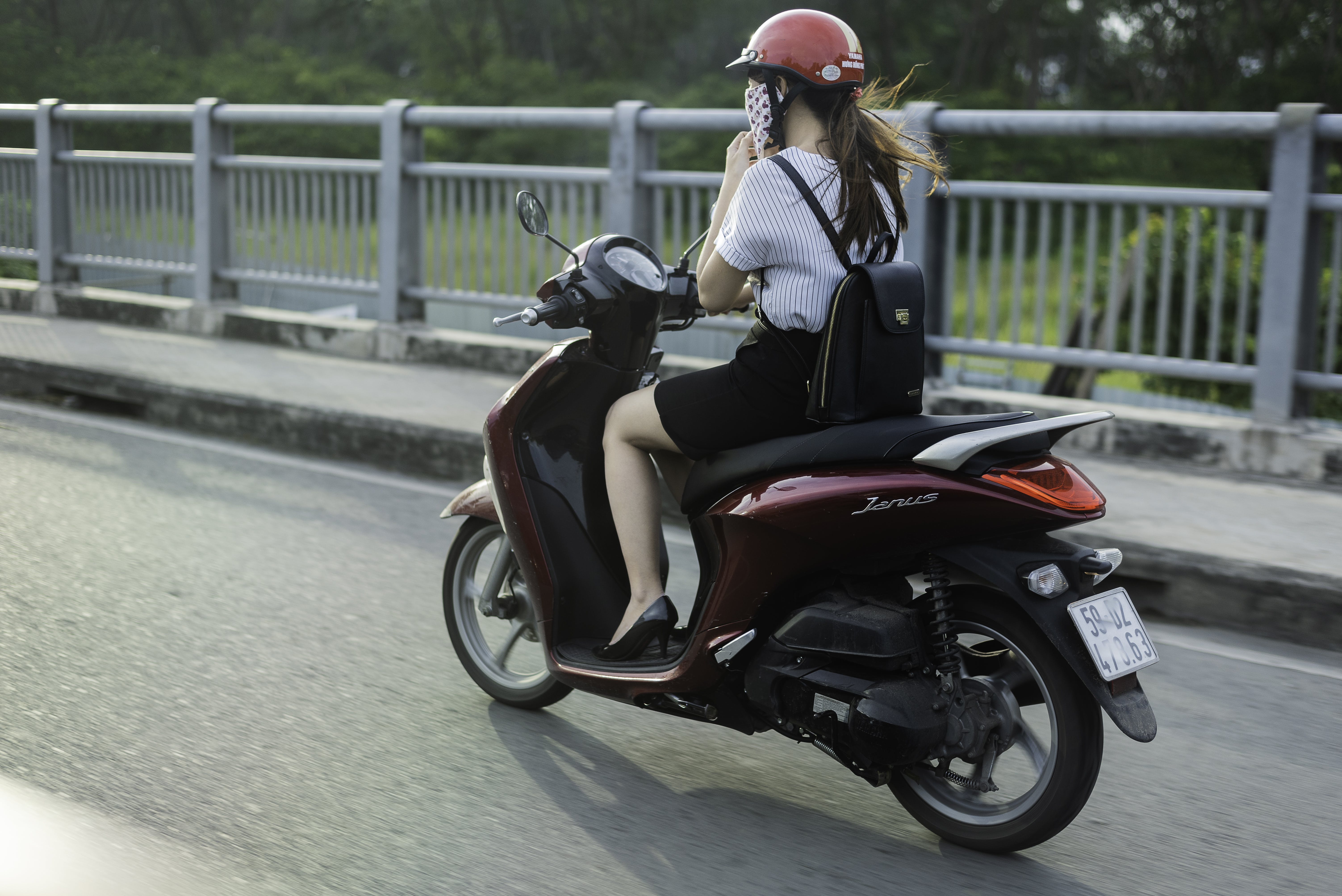 Free stock photo of going home, motor scooter