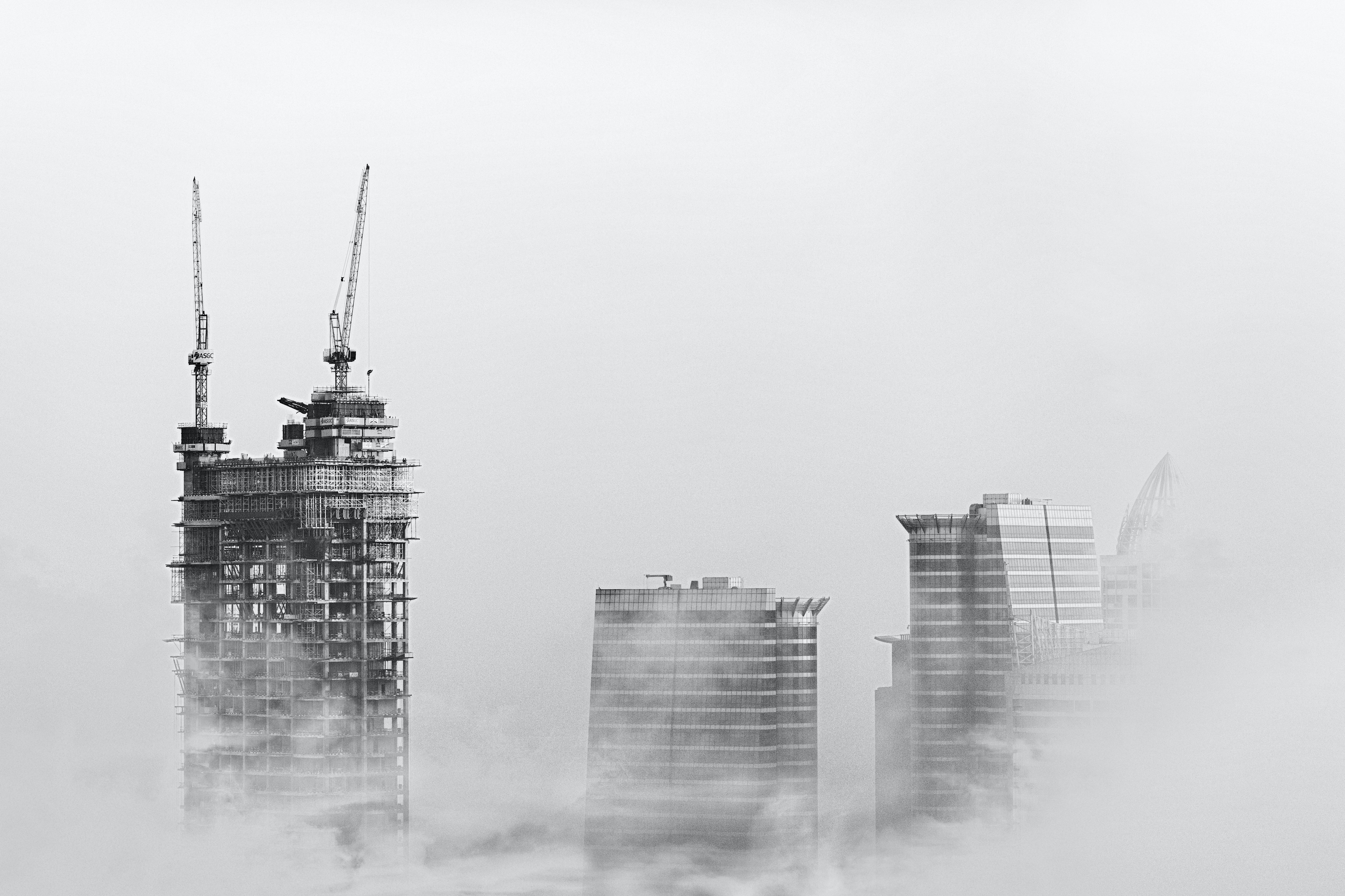 Photo of Skyscrapers Surrounded With Clouds