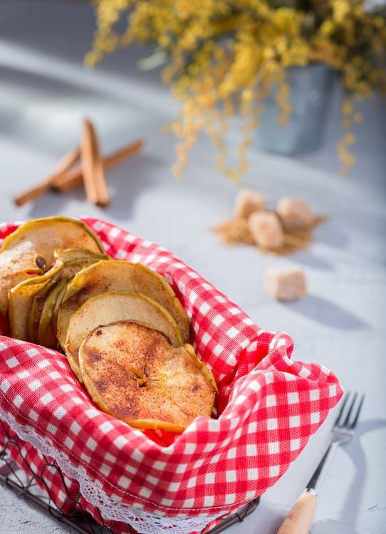 Batata Frita Foco Fotografia Raso