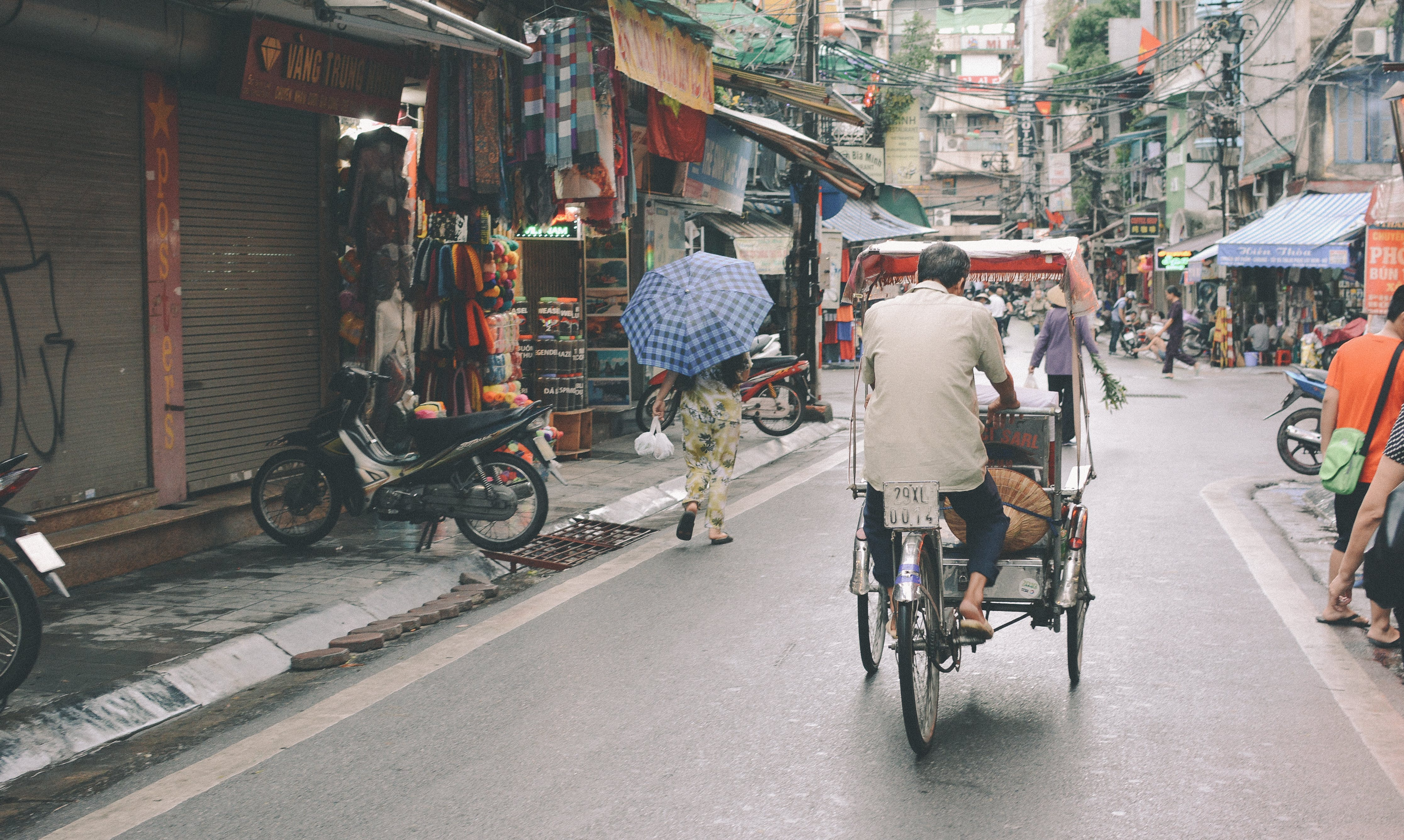 Free stock photo of alley, ancient, bike, business