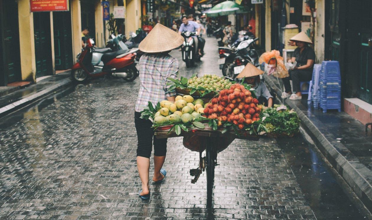 Person Walking on Market