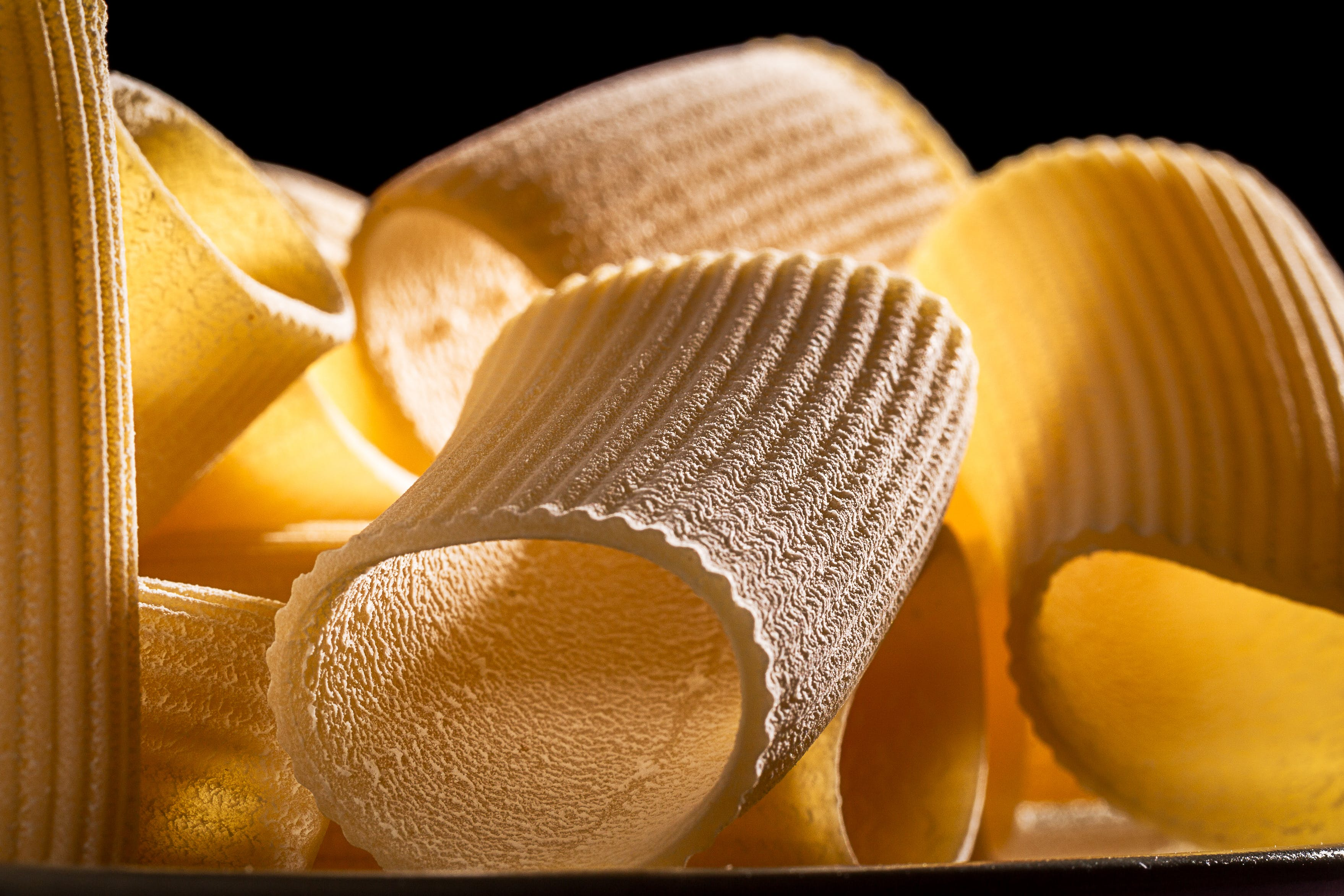 Macro Photography of Pasta