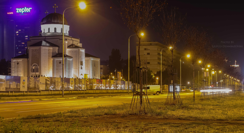 Free stock photo of car lights, street lights