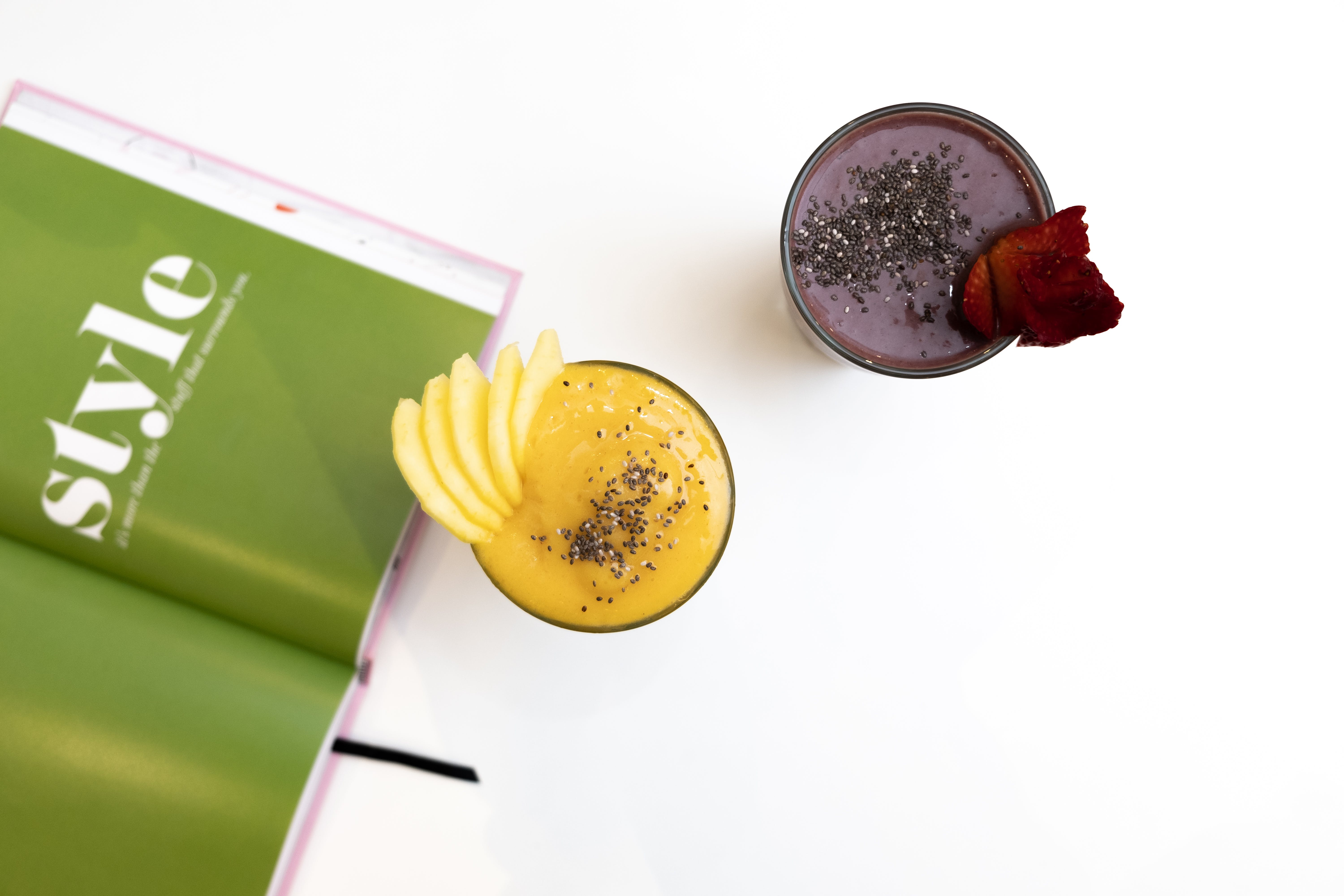 Selective Focus Photo of Smoothies