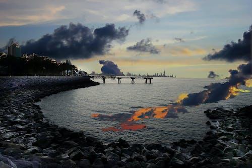 Kostnadsfri bild av brygga, gryning, hav, havsområde