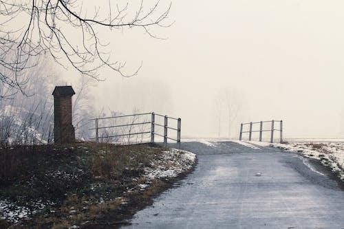 Fotobanka sbezplatnými fotkami na tému chladný, hmla, krajina, most