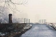 cold, snow, bridge