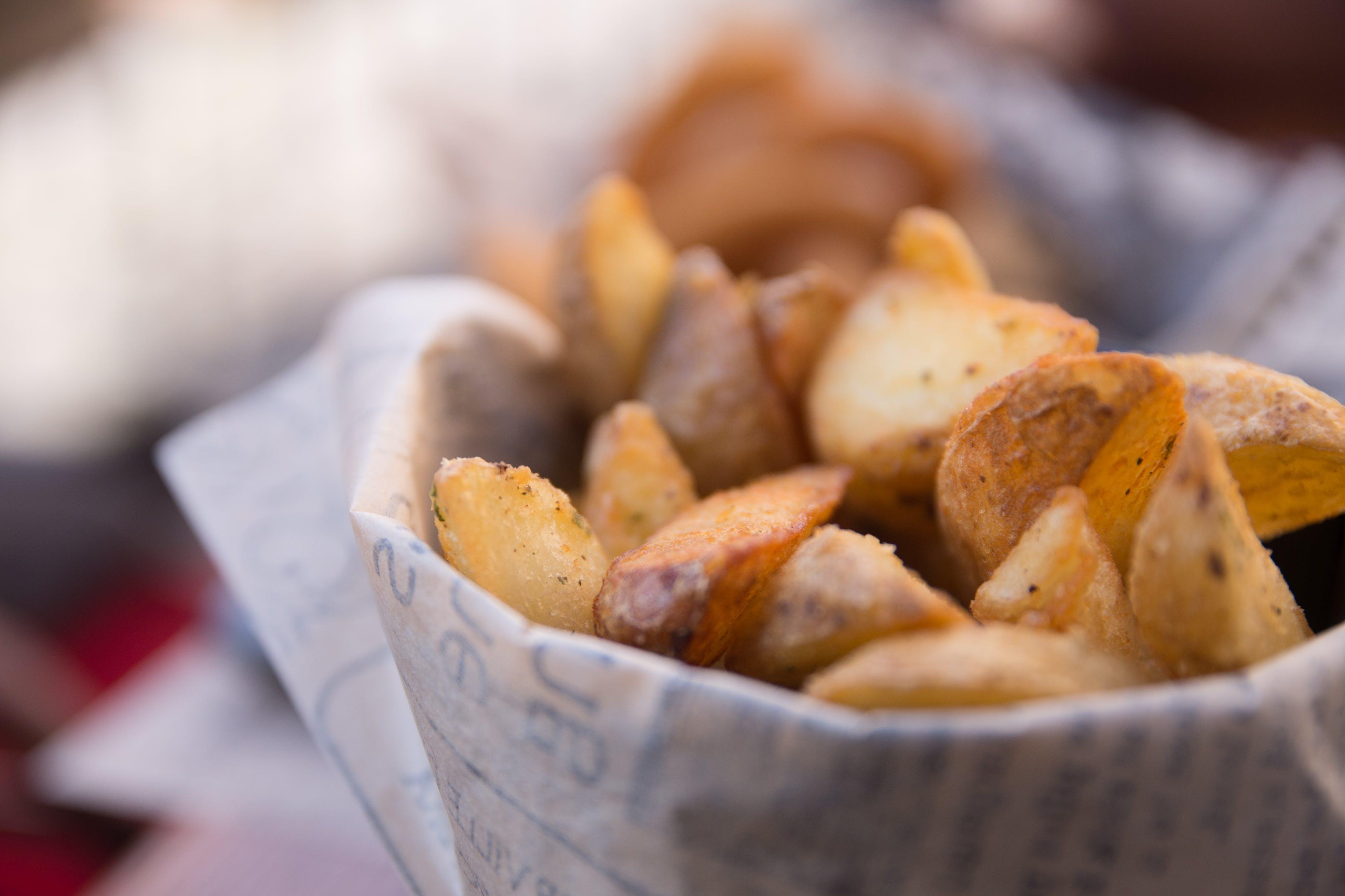 Close Up Photo of Potato Wedges