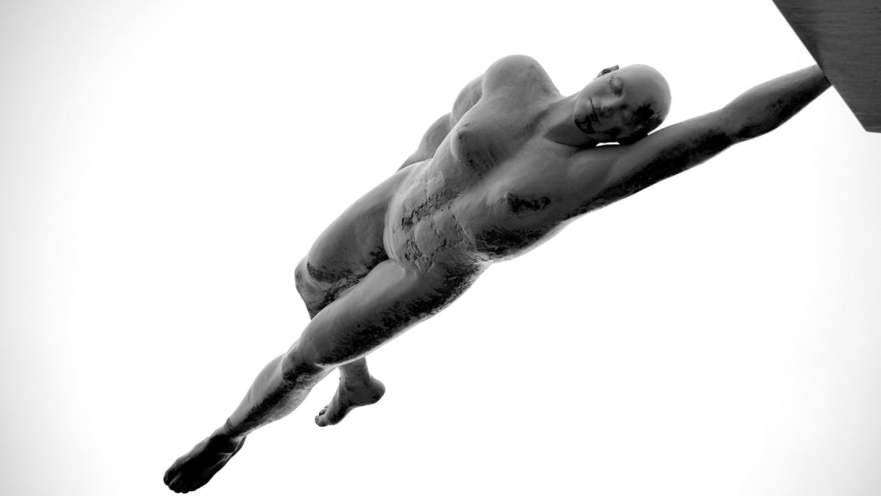 Man Raising Arm Illustration