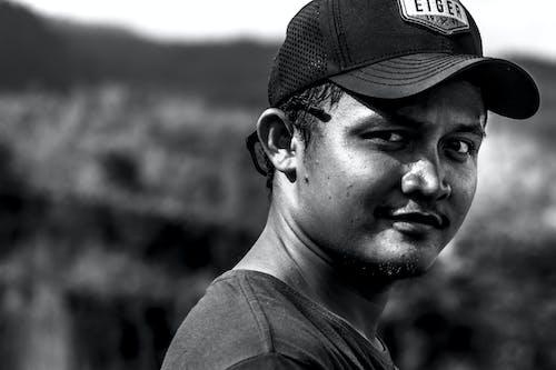 Free stock photo of black-and-white, HD wallpaper, man, portrait