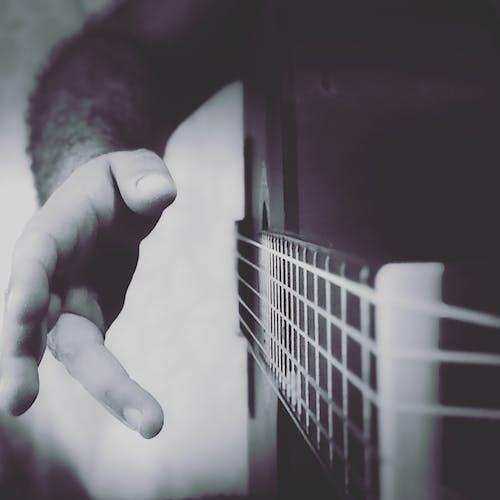 Gratis lagerfoto af guitar, klassisk guitar, musik, sort og hvid