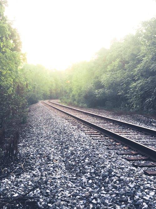 Free stock photo of destination, hazy, railroad tracks