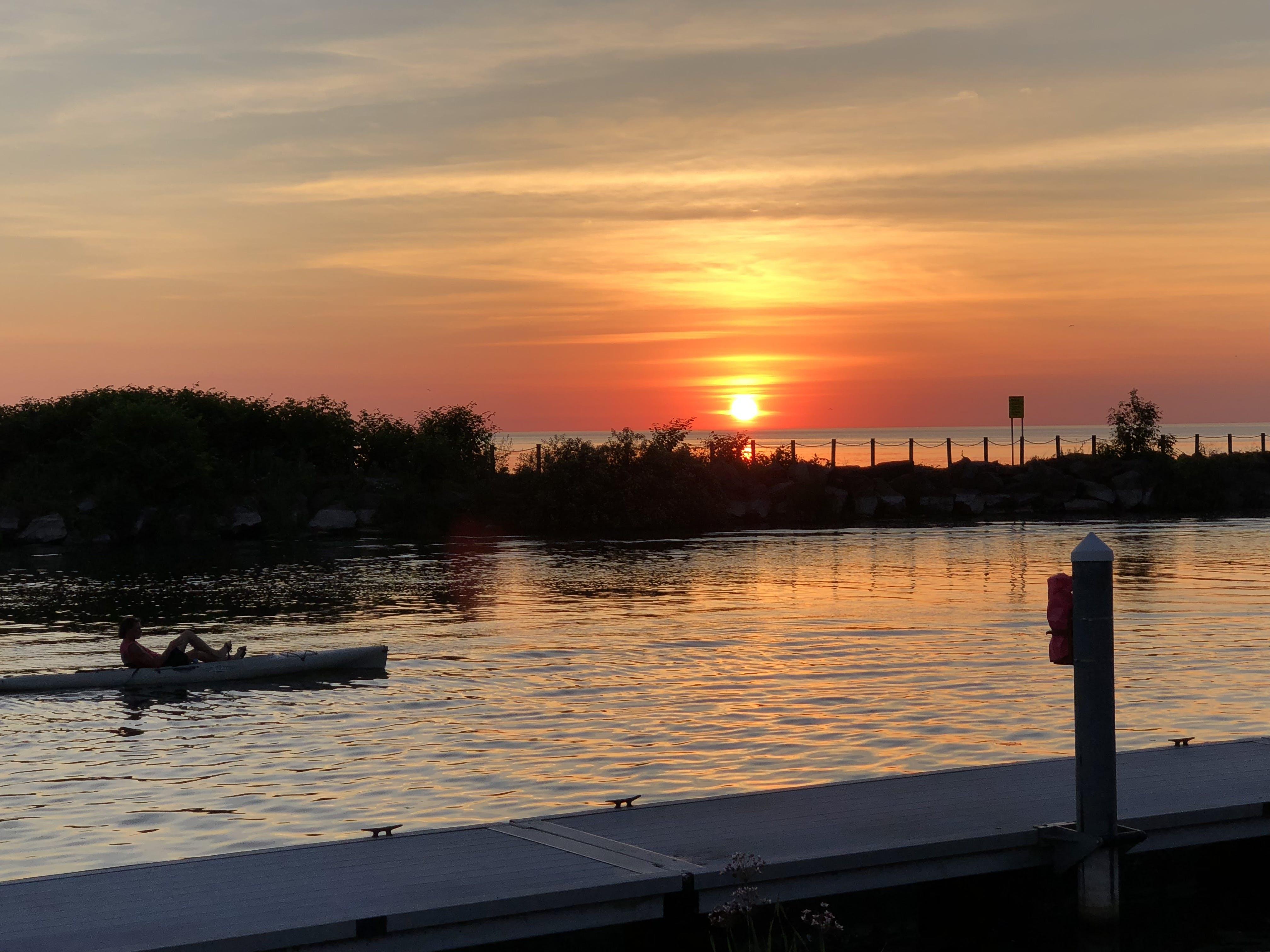 Free stock photo of kayak, lake, serene, sunset