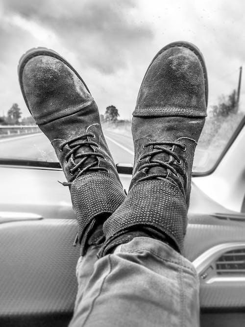 다리, 대시보드, 더러운, 발의 무료 스톡 사진