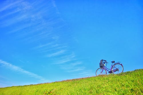 Free stock photo of bicycle, blue sky, clear, clear sky