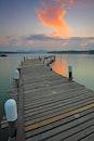 jetty, dawn, sunset