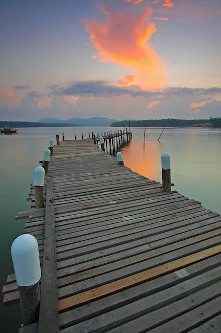 New free stock photo of jetty, dawn, sunset