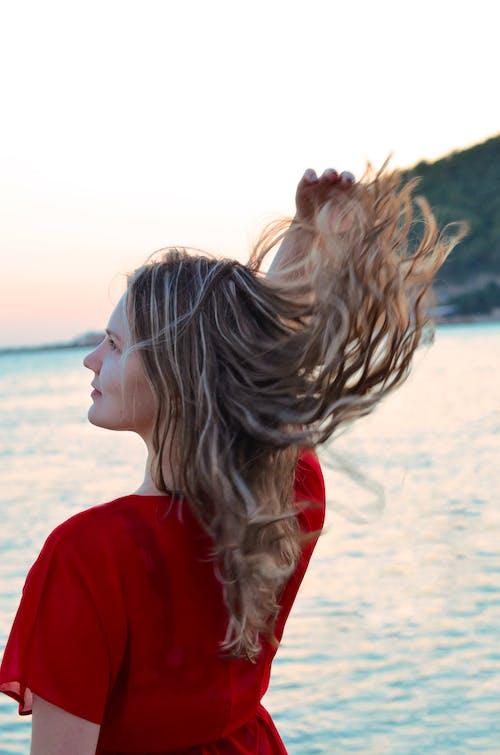 Безкоштовне стокове фото на тему «берег моря, вода, волосина, волосся»