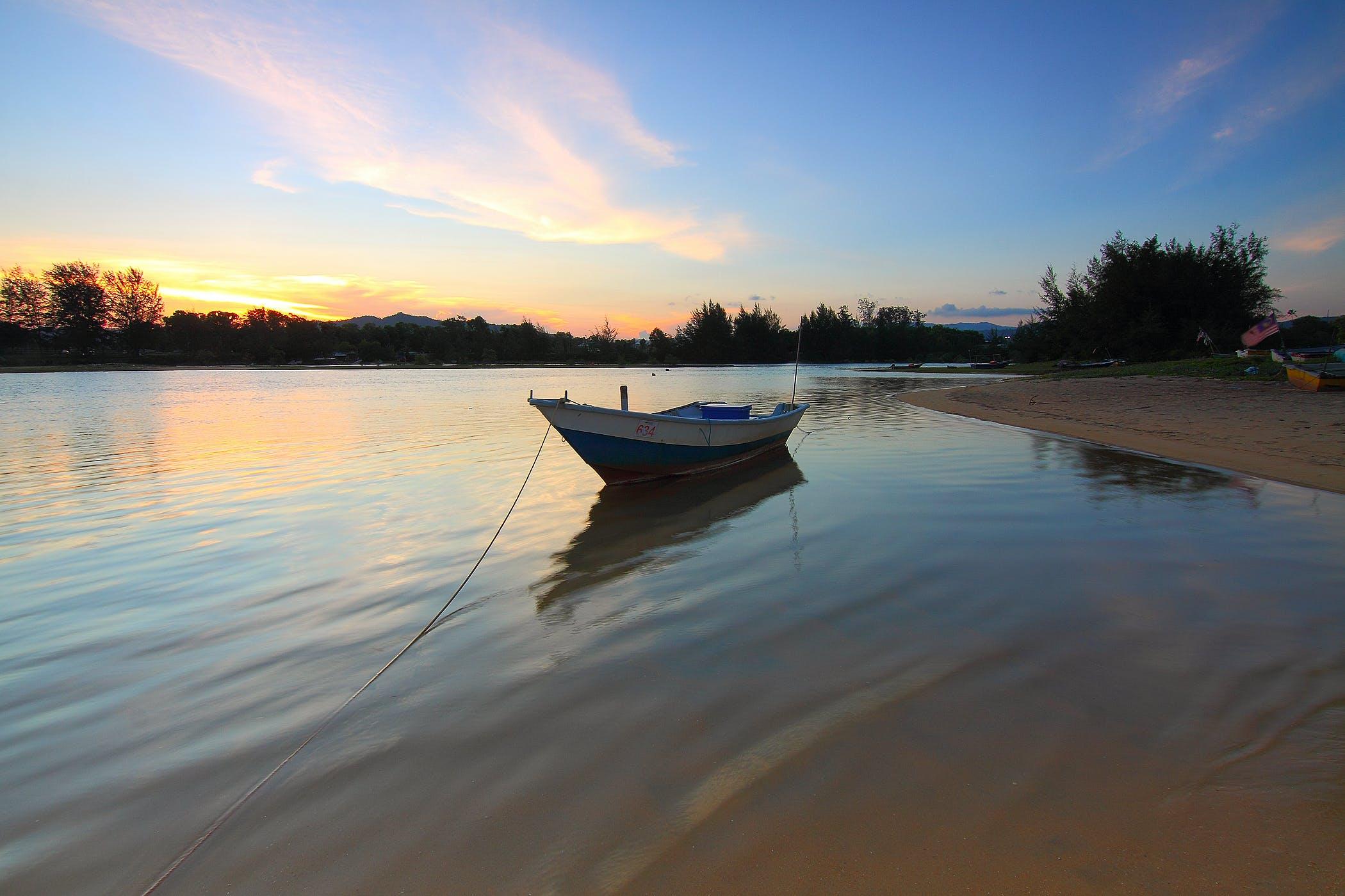 boat, dawn, daylight