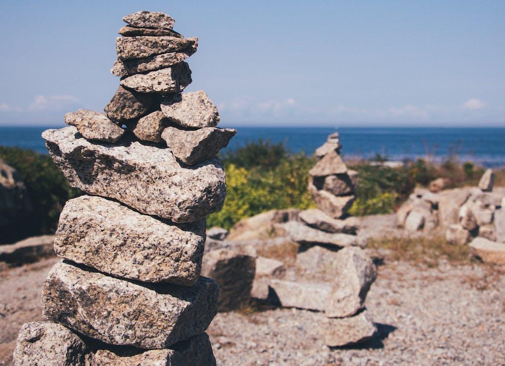 balancerende rots, balans, beeld