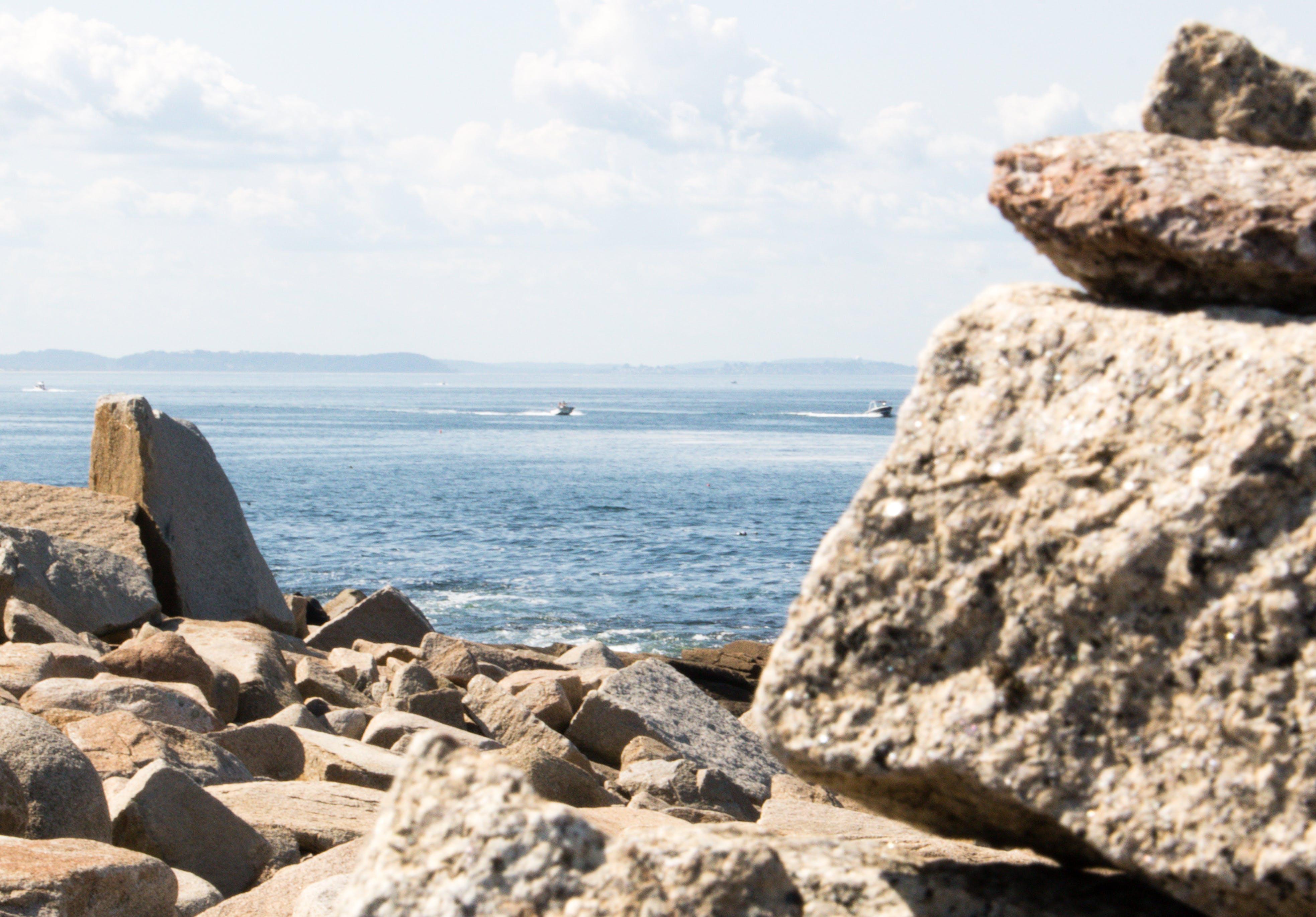 Free stock photo of boats, horizon, landscape, massachusetts