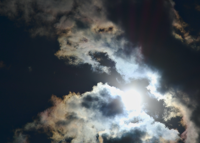 Free stock photo of sun, sun-behind-clouds, sun-colored cloud
