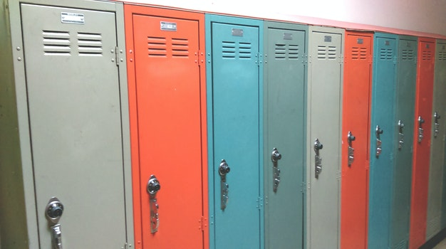 Free stock photo of school, hallway, class