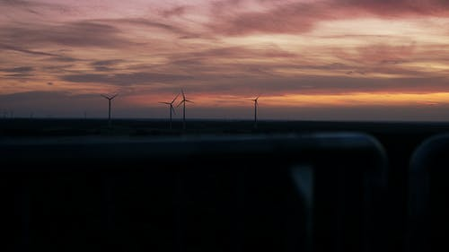 Windmill during Sunset