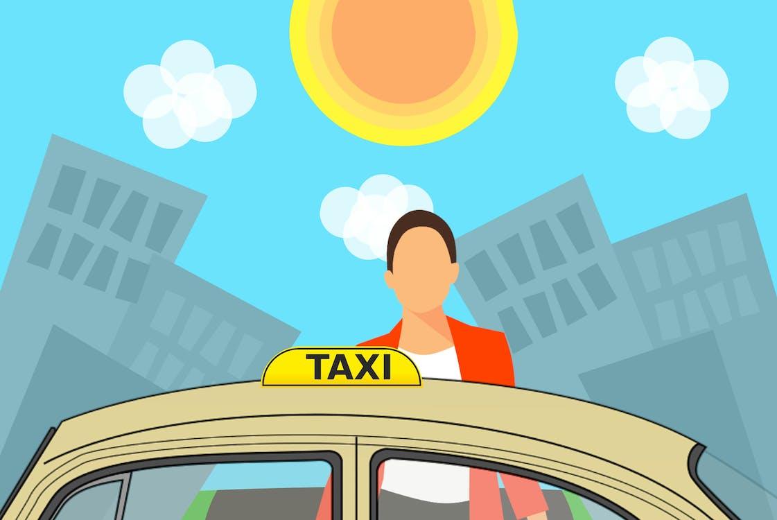サービス, シティ, タクシーの無料の写真素材