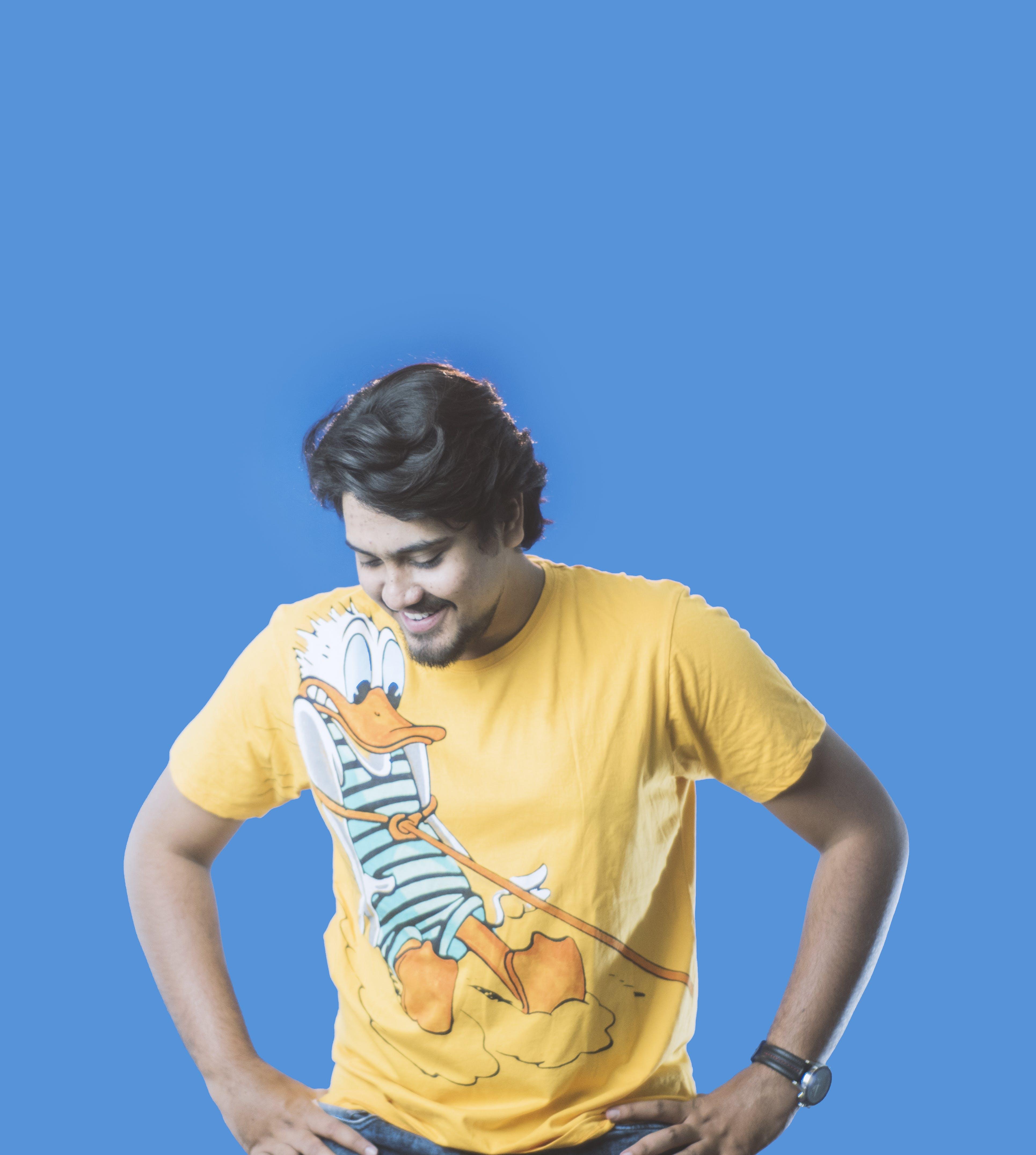 Free stock photo of anush gorak, blue background, boy, colorful
