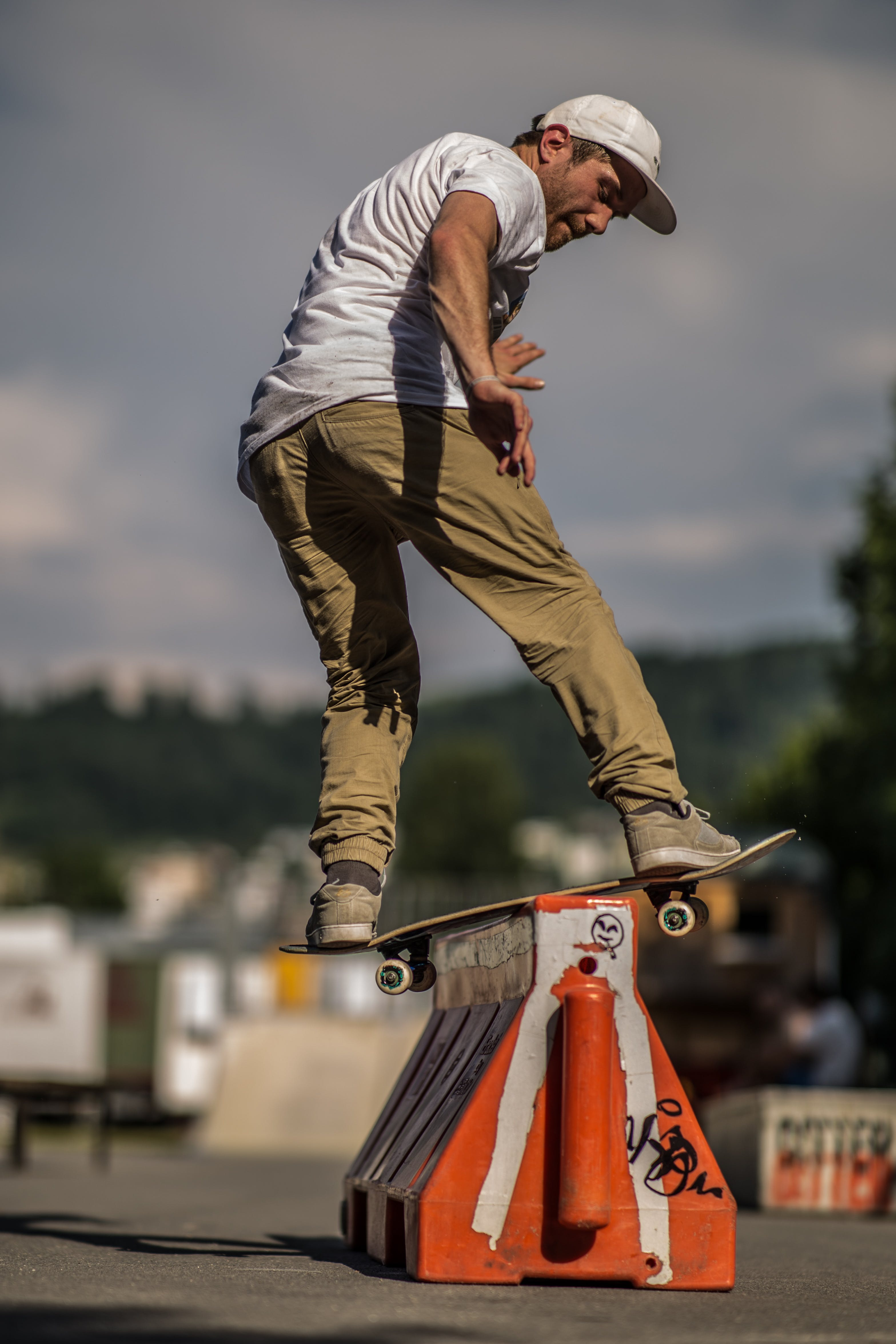 Person Doing Trick on Skateboard