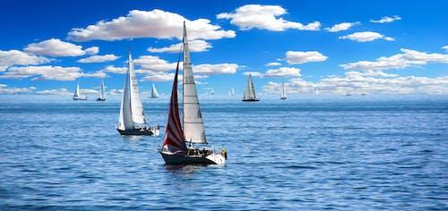 구름, 물, 바다, 배의 무료 스톡 사진
