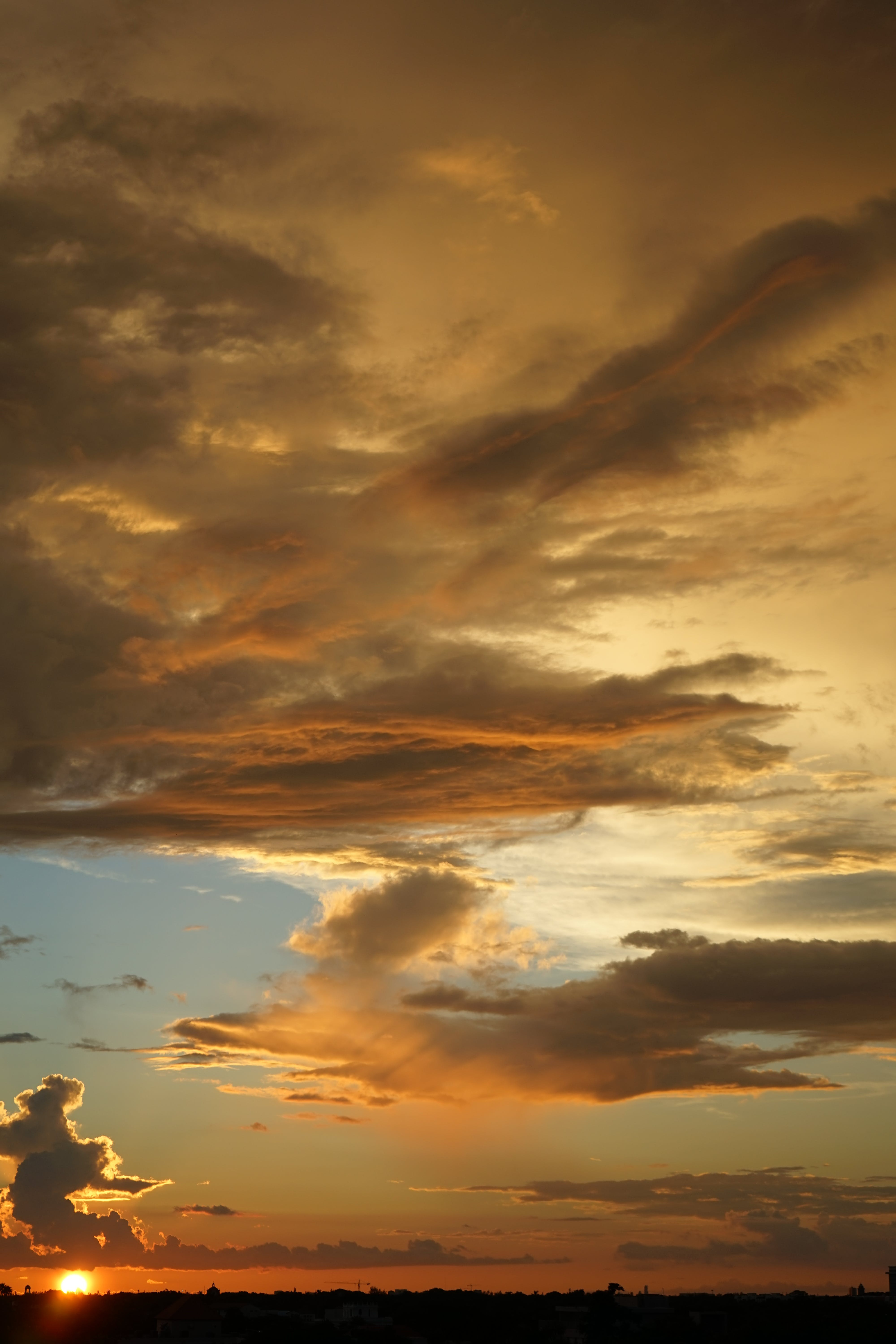 Free stock photo of sunset, clouds, yellow, sony