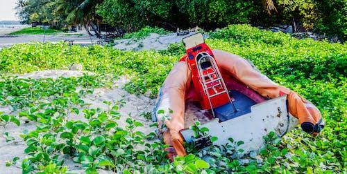 ケニア, ゴムディンギー, ボートモンバサ海岸, 雑草の中でボートの無料の写真素材