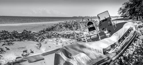 ケニア, ビーチでボートします。, モンバサ北海岸, 放棄されたゴム薄汚いビーチの無料の写真素材