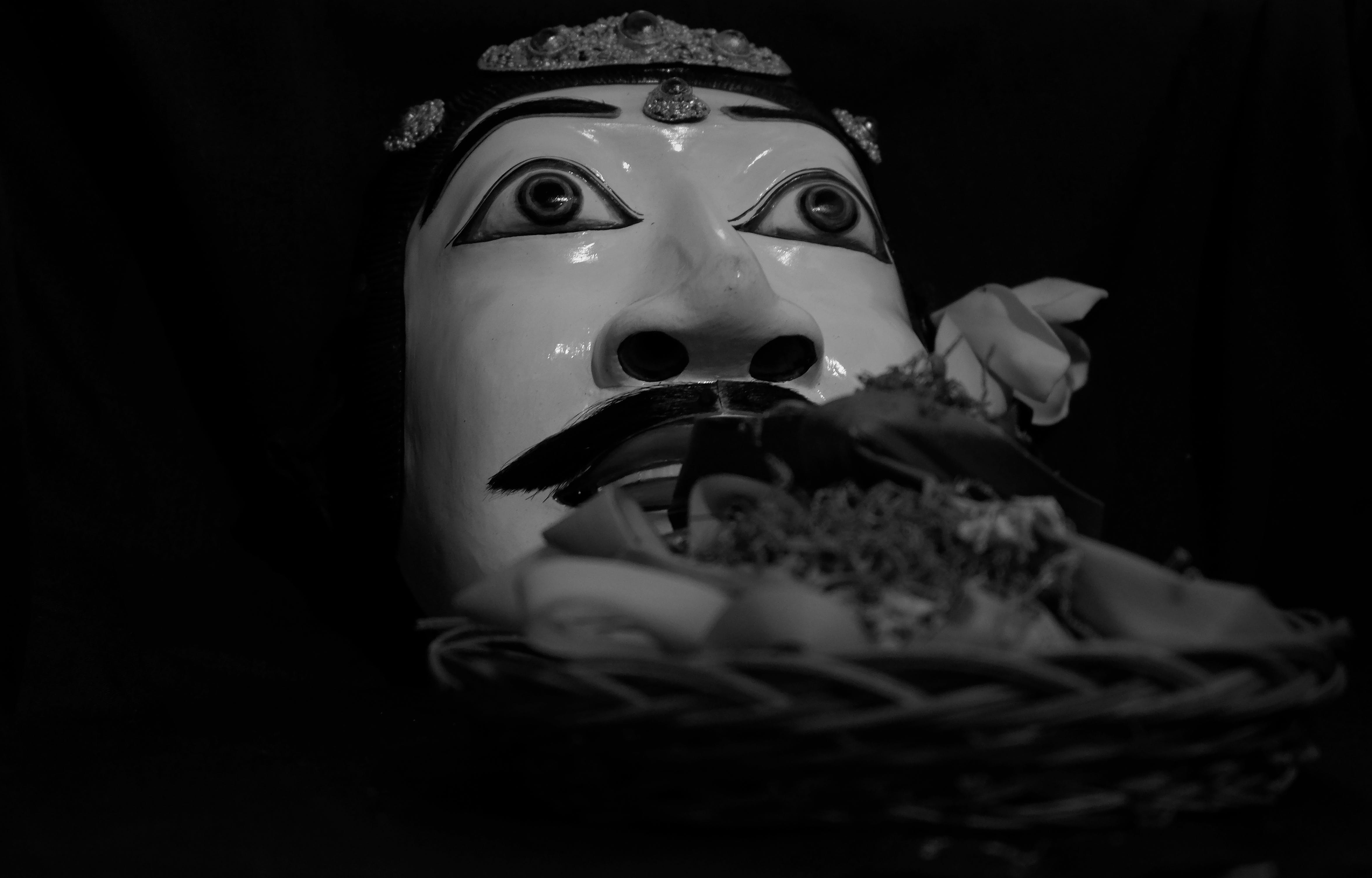 Free stock photo of bali, balinese, black and white, topeng