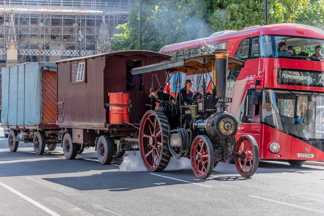 constructiontractor, steamtractor, traktor