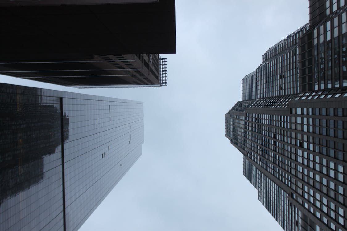 arkitektur, bygninger, downtown