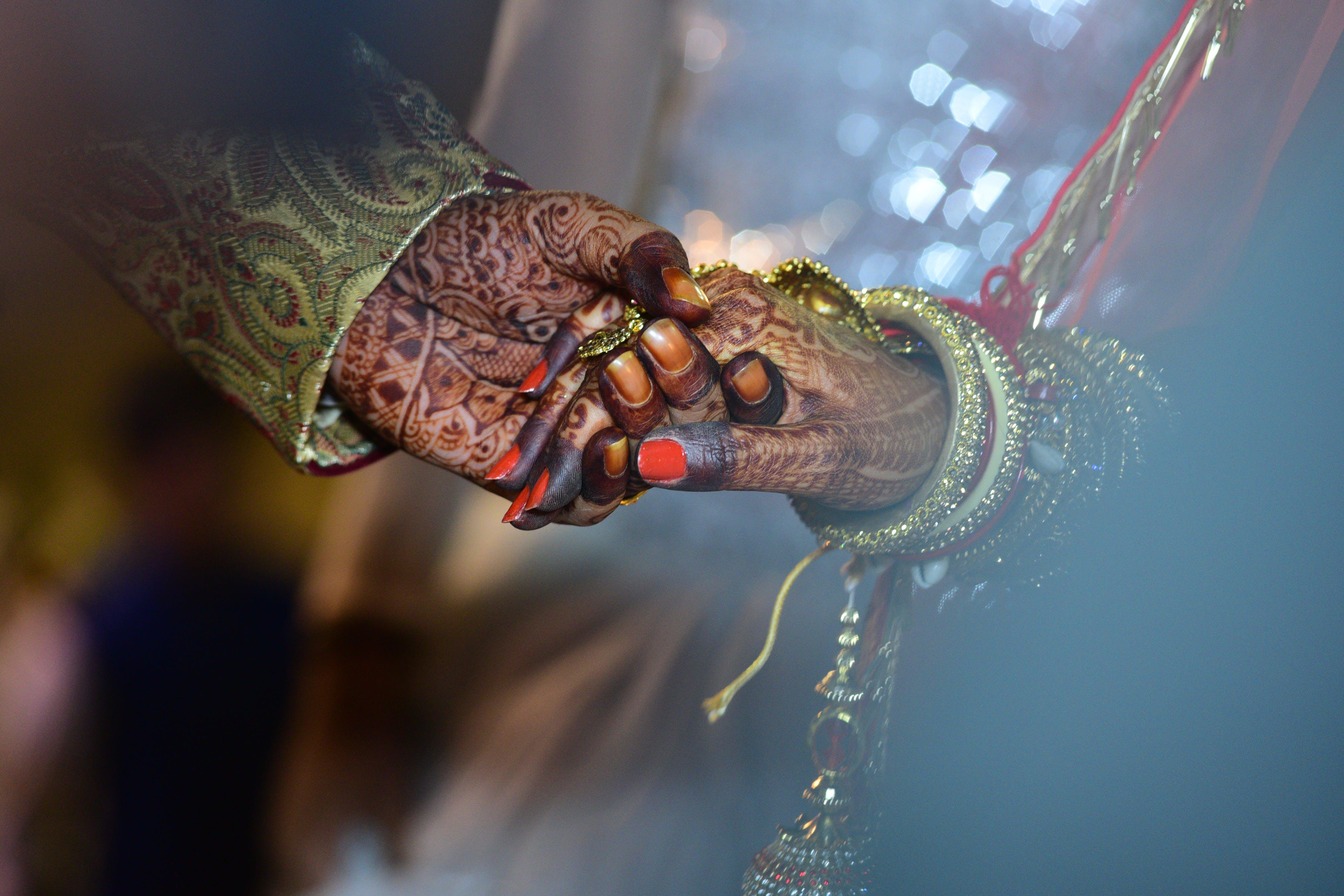 armbånd, bryllup, close-up