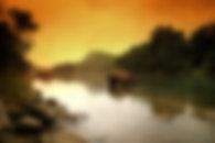blur, river, blurred