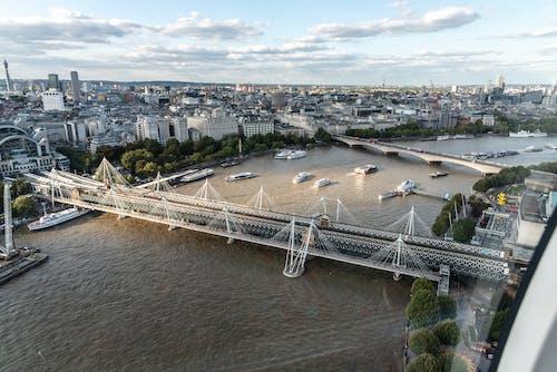 คลังภาพถ่ายฟรี ของ มองลงมาจากลอนดอนอาย