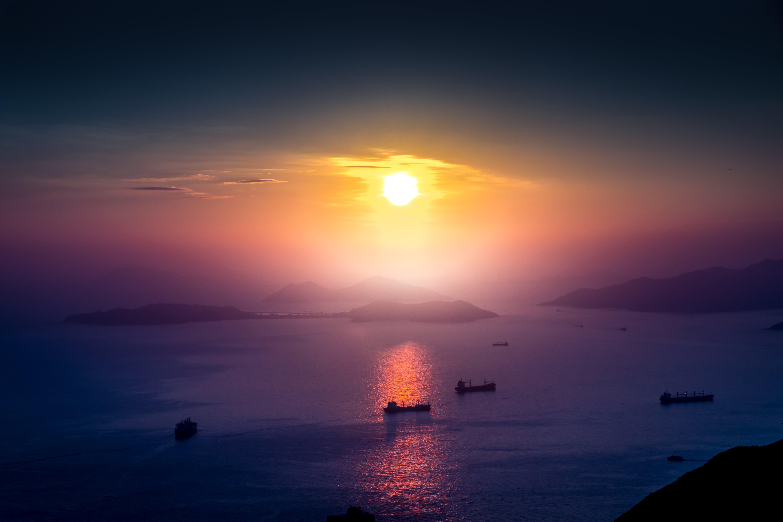 Gratis lagerfoto af bjerg, farve, fredelig, hav