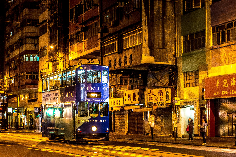 Free stock photo of bus stop, city, hong kong, hongkong