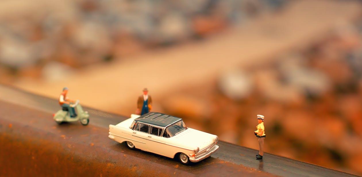 arrière-plan flou, automobile, gens