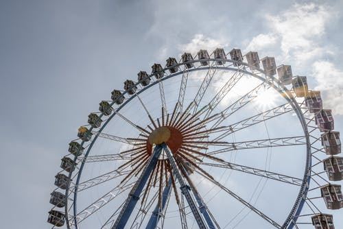 Low-angle Photo of Ferris Wheel