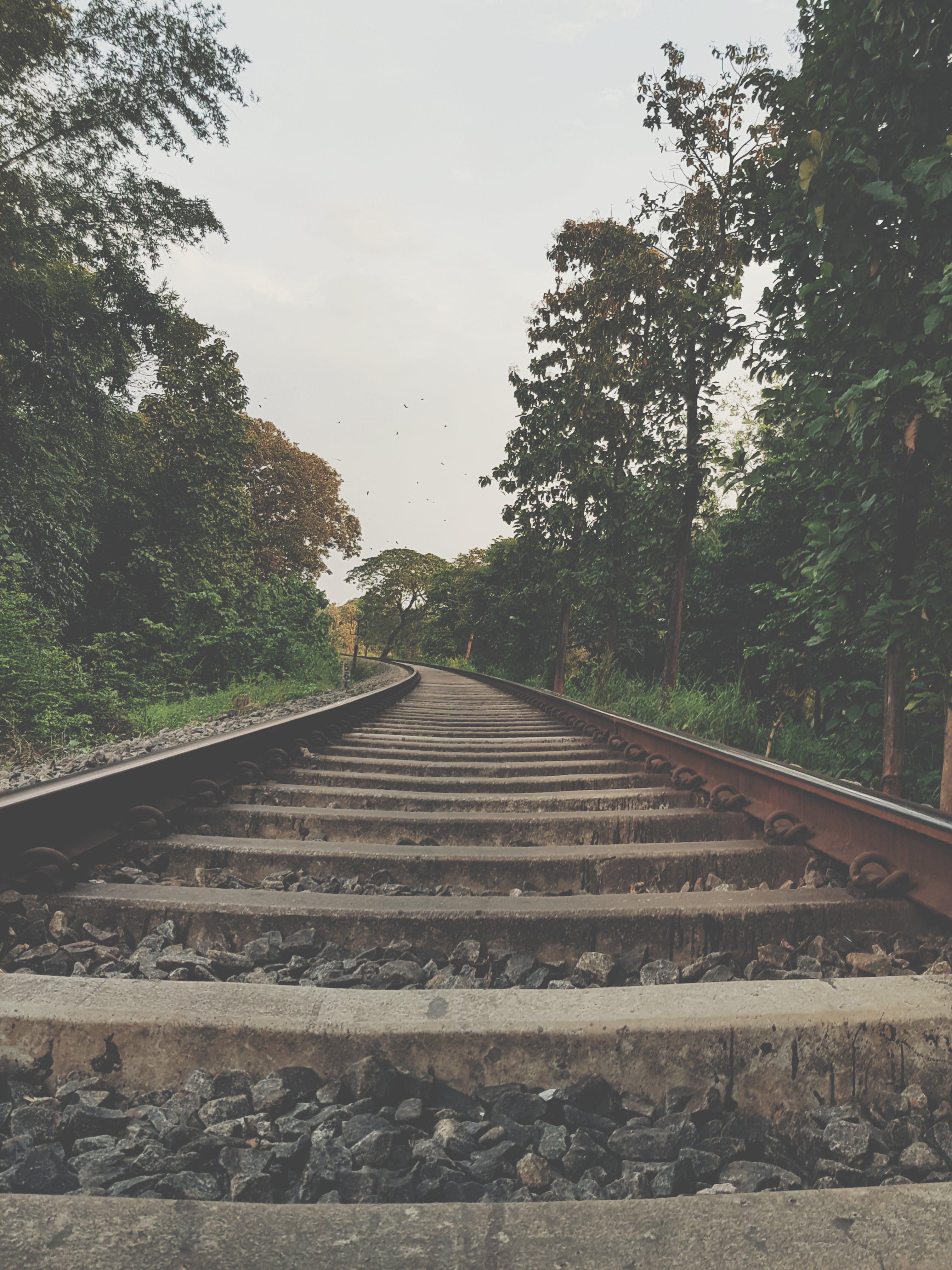 Free stock photo of rail, railway, stones, tracks