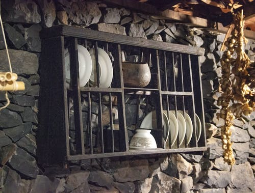 Free stock photo of antique, plates, stoves