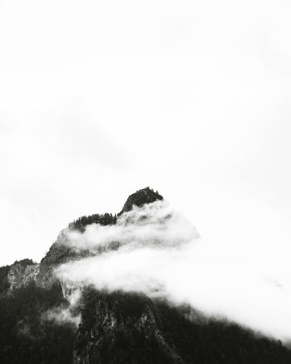 Monochrome Photography of Mountain